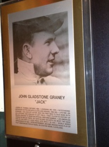 Jack Graney's Plaque, Canadian Baseball Hall of Fame