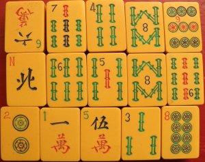 Mah-jongg tiles from the 1920s